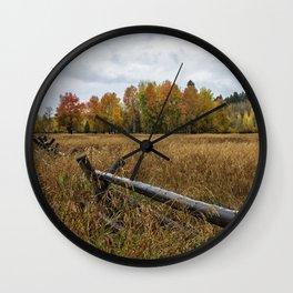Rainy Fall Day in Wyoming - Grand Tetons Wall Clock