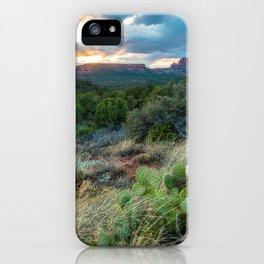 Southwest Serenade - Sunset at Sedona Arizona iPhone Case