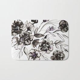 Ink Flowers Bath Mat