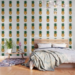 Carved Pineapple Hawaiian Halloween Wallpaper
