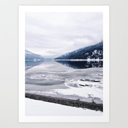 An Interrupted Reflection Art Print
