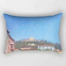 Residence on muntain Rectangular Pillow
