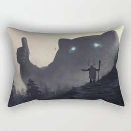 yo bro is it safe down there in the woods? yeah man it's cool Rectangular Pillow