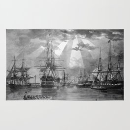 Civil War Ships of the United States Navy Rug