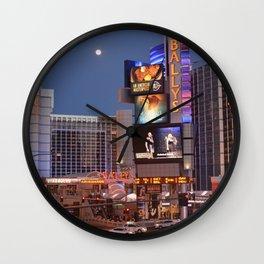 Las Vegas moon Wall Clock