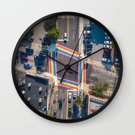 Atlanta Rainbow Crosswalks Wall Clock