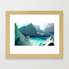 Photobombear! Framed Art Print
