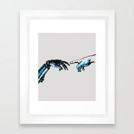 Creation of Man 2.0 Classic Michelangelo Robot Hand Art Print Framed Art Print