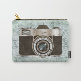 Green Vintage Camera Art Carry-All Pouch