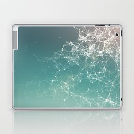 Fresh summer abstract background. Connecting dots, lens flare Laptop & iPad Skin