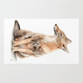 Fox Watercolor Rug