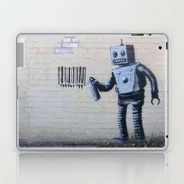 Banksy Robot (Coney Island, NYC) Laptop & iPad Skin