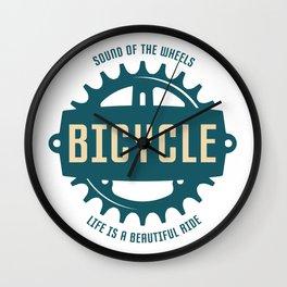 Bicycle T-Shirt Wall Clock