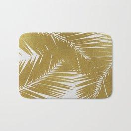 Palm Leaf Gold III Bath Mat