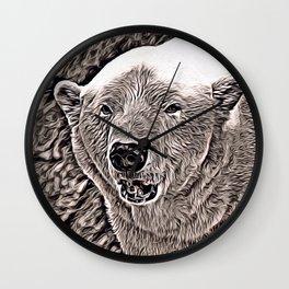 Rustic Style Polar Bear Wall Clock