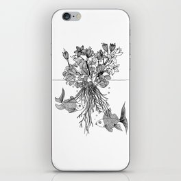 Waterlilies and goldfishes iPhone Skin