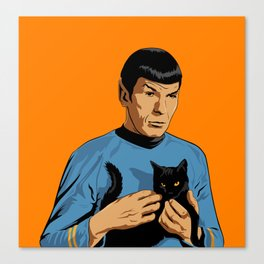Spock's cat Canvas Print