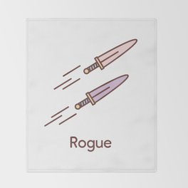 Cute Dungeons and Dragons Rogue class Throw Blanket