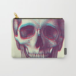 duotone vintage skull Carry-All Pouch