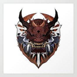 Oni Wrath II Art Print