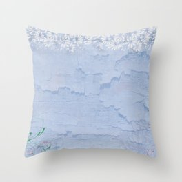 Rustic pale blue parchment paper Throw Pillow