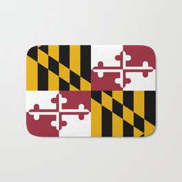 Maryland State Flag, Hi Def image Bath Mat