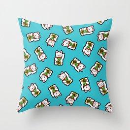 Lucky Cat Pattern Throw Pillow