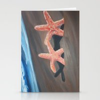 starfish Stationery Cards featuring Starfish by Lark Nouveau Studio