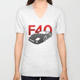 Ferrari F40 Unisex V-Neck