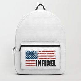 American Infidel word with USA flag GRUNGE Backpack
