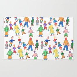 Multicolor People Multiples Rug