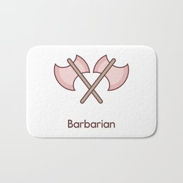 Cute Dungeons and Dragons Barbarian class Bath Mat