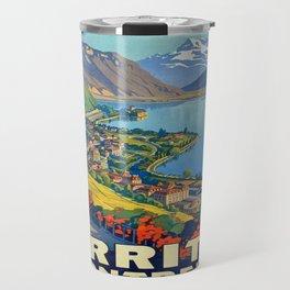 Vintage poster - Territet Montreaux Travel Mug