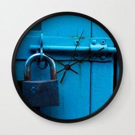 Lock up the blues Wall Clock