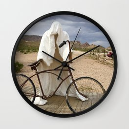 Ghost with bike Wall Clock