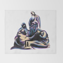 Crucifix Scene Throw Blanket