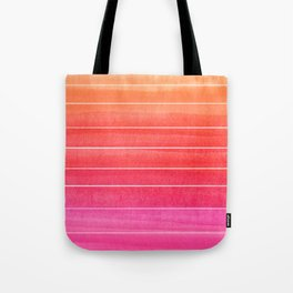 Watercolor Sunset Stripe  Tote Bag