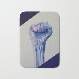 Resist fist, Trans Pride resist fist, Transgender art Bath Mat