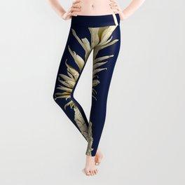 Pineapple Pineapple Gold on Navy Blue Leggings