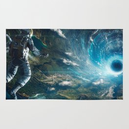 Astronaut lost in space Rug