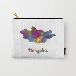 Mongolia in watercolor Carry-All Pouch
