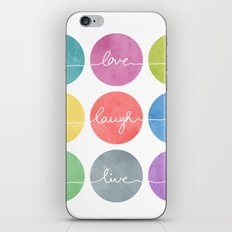 Love Laugh Live 2 (Colorful) iPhone & iPod Skin