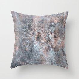 Burned Copper B Throw Pillow