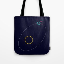 Sun Earth Moon Tote Bag