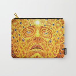 Golden Psychedelic Head Carry-All Pouch
