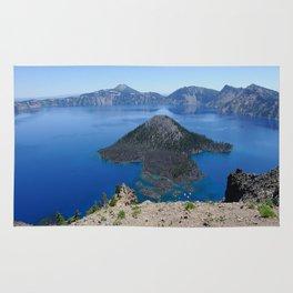 Crater Lake Volcanic Crater Oregon USA Rug