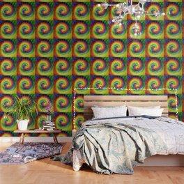 Boho Spiral Tie Dye Pattern Wallpaper