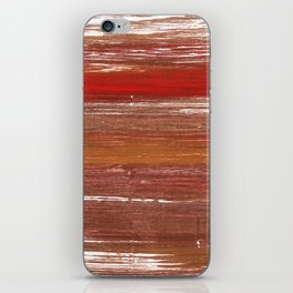 Chestnut abstract watercolor iPhone Skin
