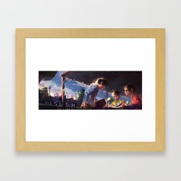 Friend Sketch Hangout Framed Art Print