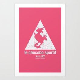 Chocobo Sportif Art Print